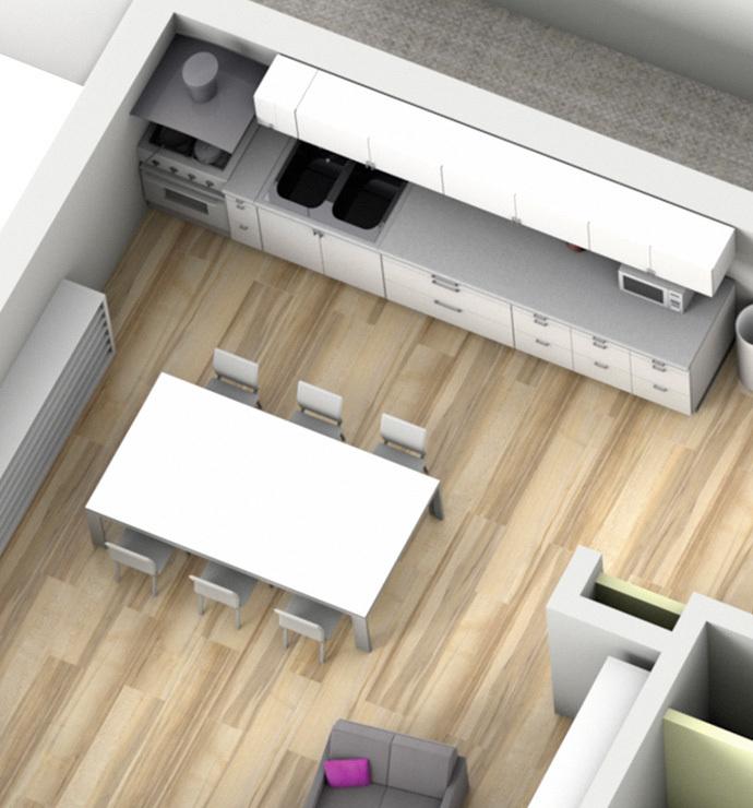 Private rooms : kitchen / storeroom