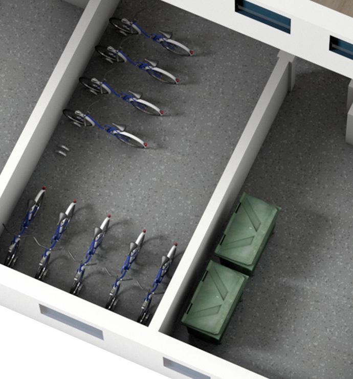 Common areas: storage rooms xxx